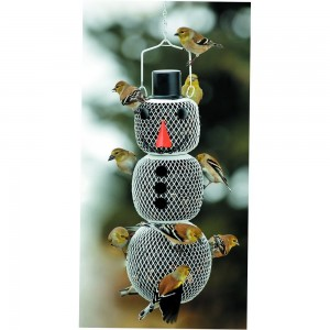 No/No Solar Snow Man Bird Feeder