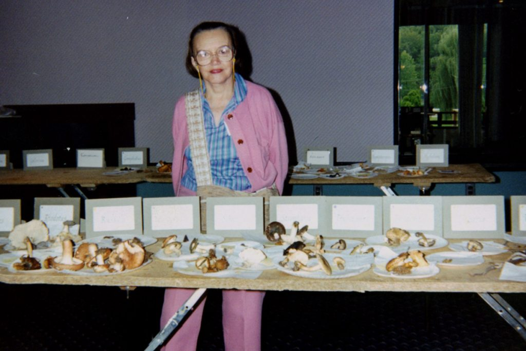 My Grandma Elizabeth (Betty) Wilhelm at a Mushroom Convention