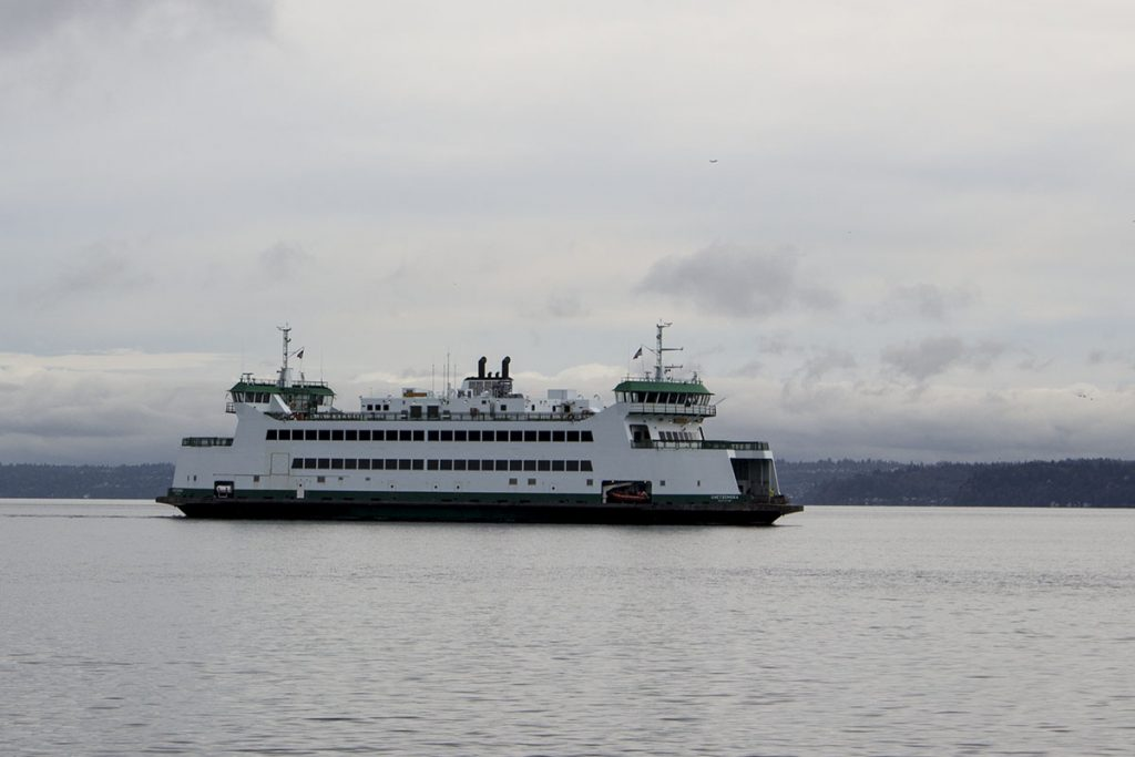 Washington State Ferry Crossing the Puget Sound