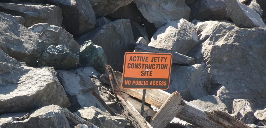 Jetty Under Construction Sign