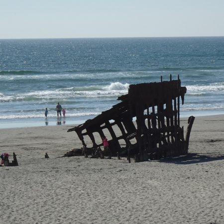 Ship wrecked on the beach